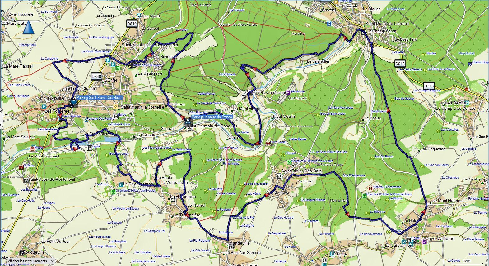 Circuit Oison et forêt 2015 raccourci AVS